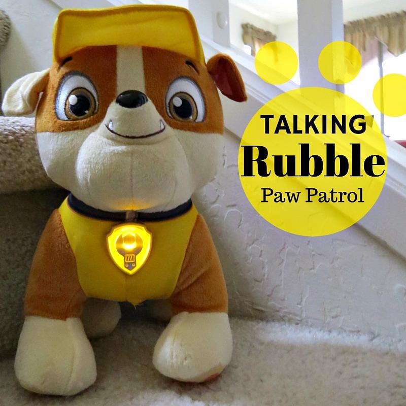 Talking Rubble Paw Patrol Plush Dog