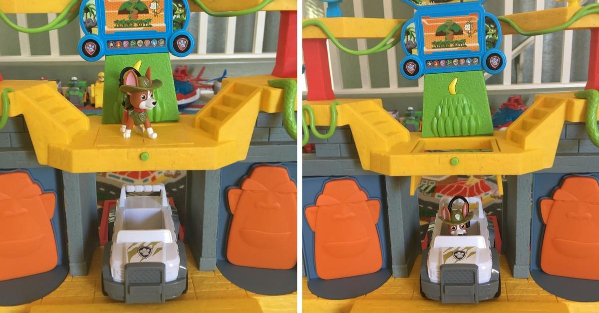 Paw Patrol Monkey Temple Playset Trap Door