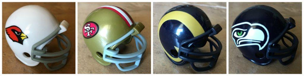memorize NFC West Teams - Cardinals, 49'ners, Seahawks, Rams